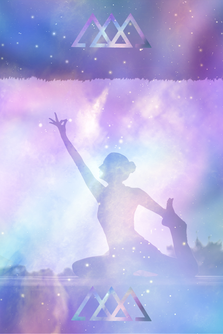 Galactic Ethereal Pastel Yoga Scene - Branding Services & Custom Website Design and Development