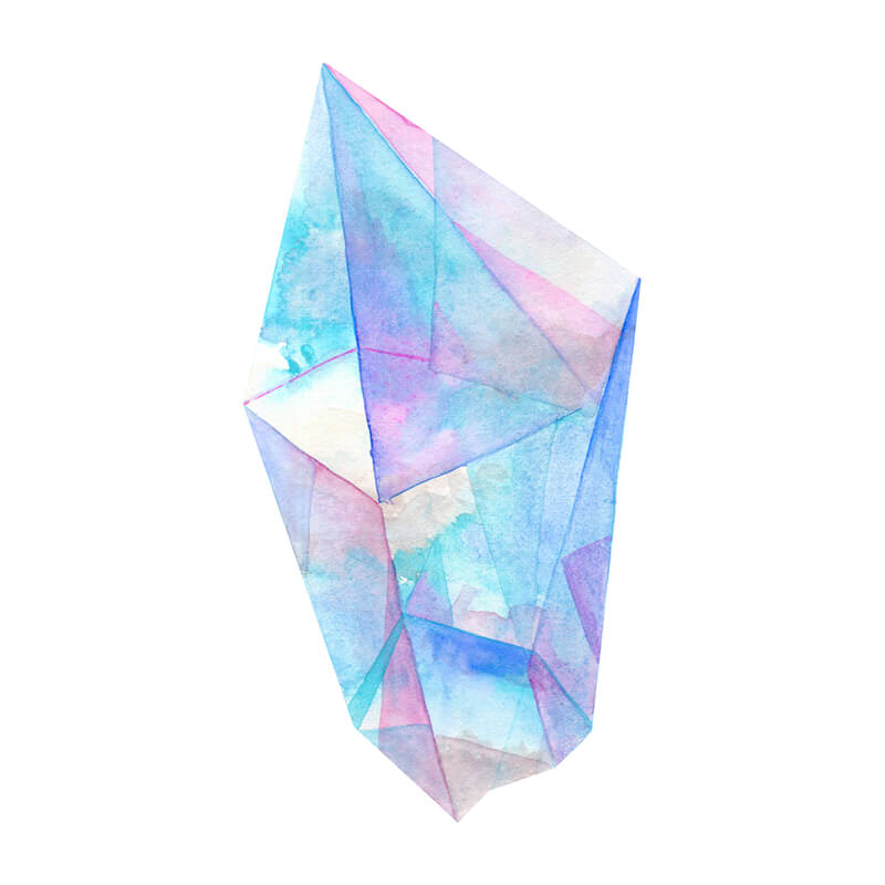 Pastel Watercolor Crystal